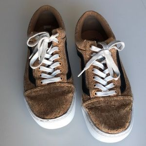 Vans Old Skool Cup Natural Cork Slate Shoes 8.5